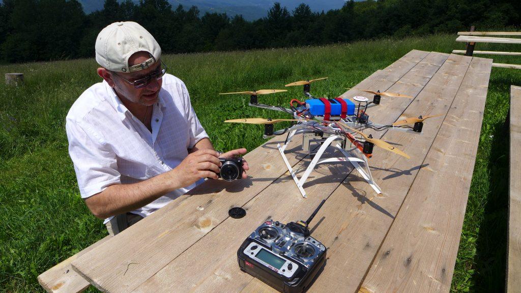 podešavanje fotoaparata za dron